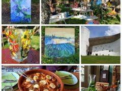 Schilderen en mozaiek Colourfulthings bij Maison Le Roux..Noord Frankrijk