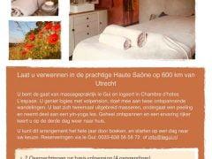 Verwenweekend Le Gui- 15 tot 17 mei - Massage - Yoga - Haute Saône - Noord Frankrijk