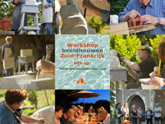 workshop BEELDHOUWEN en YOGA/MEDITATIE in de Tarn