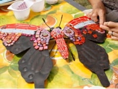 'Spelen met kleur, keramiek en glas'- Mozaiek Vakantieweek - Ouroubouros